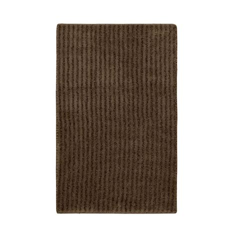 bathroom accent rugs garland rug sheridan chocolate 24 in x 40 in washable