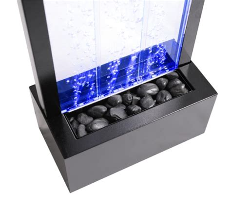 Lackieren Wasserwand by Sprudelnde Wasserwand Mit Bunter Led Beleuchtung 122cm
