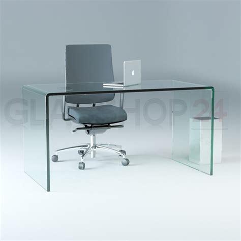 schreibtische glas design schreibtisch aus 15mm echtglas b t h 1400x700x730mm