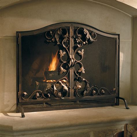 Toscana Fireplace Screen Oversized Contemporary Oversized Fireplace Screens