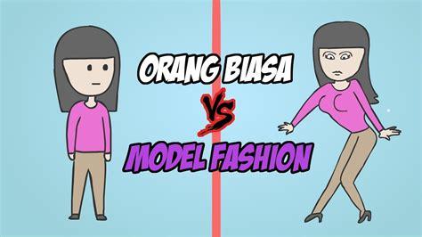 perbedaan  biasa  model fashion kartun lucu
