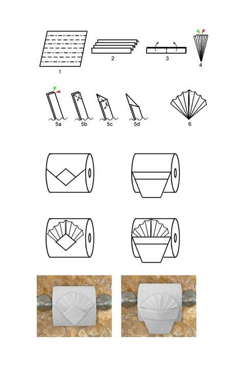 Toilet Roll Origami - origami toilet paper