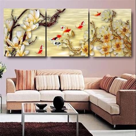 wall pictures living room canvas pictures white magnolia wall canvas paintings