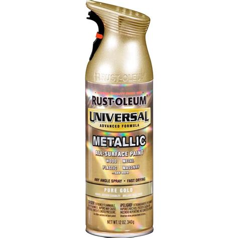 rust oleum universal 11 oz all surface metallic gold spray paint and primer in one