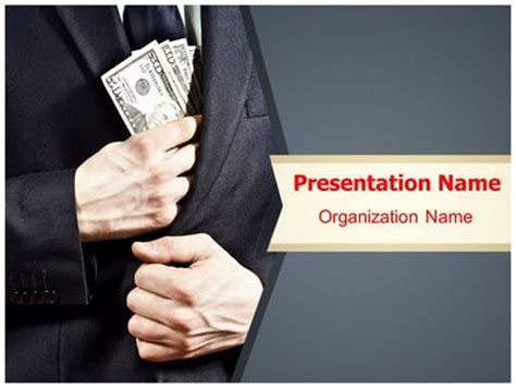 ppt themes for corruption bribe money powerpoint template background