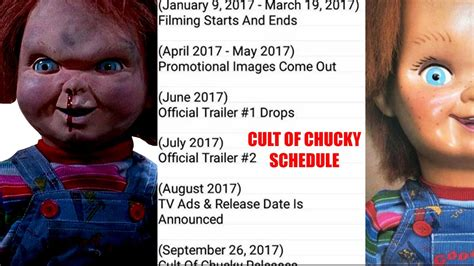 chucky movie release cult of chucky schedule leaked trailer release dates