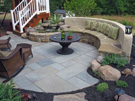 stone patio bench design landscape garden design in md va and wv poole s