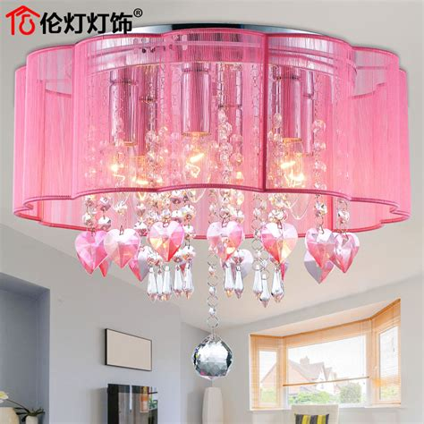 girls bedroom lighting crystal ceiling romantic fashion warm pastoral style led