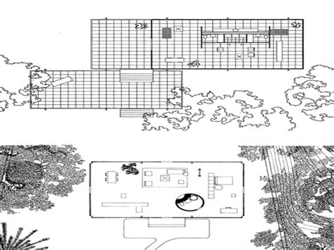 glass house floor plans farnsworth house philip johnson glass house floor plan
