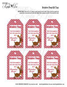 printable reindeer name tags all things christmas on pinterest reindeer poop snowman