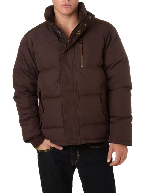 rugged coat timberland rugged puffa jacket in brown ebay