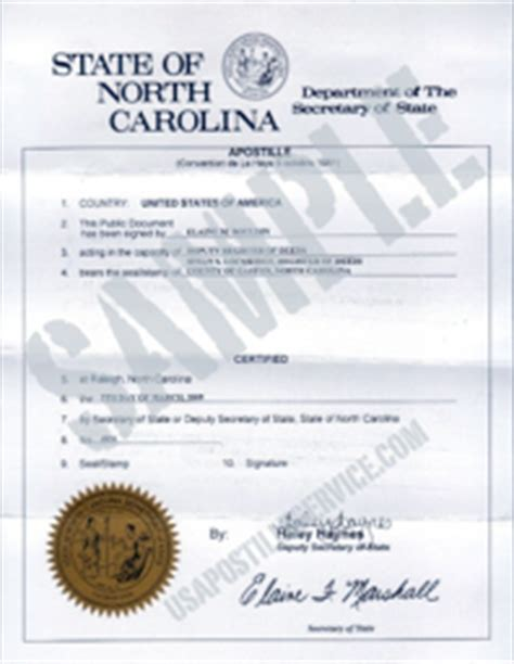 Vital Records Raleigh Nc Birth Certificate Carolina Apostille
