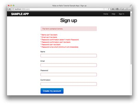 laravel tutorial signup перевод ruby on rails tutorial изучение rails на примерах
