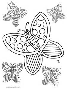 butterfly coloring pages crayon coloring pages