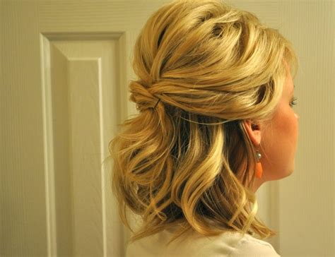 updos for medium hair half up half half up half wedding hairstyles for medium length