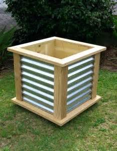 nz furniture corrugated wood frame planter box