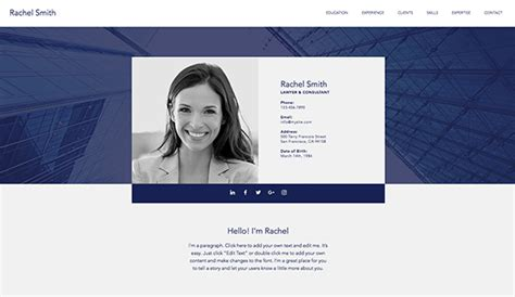 Cv Website by Plantillas Web Html De Res 250 Menes Y Cvs Wix