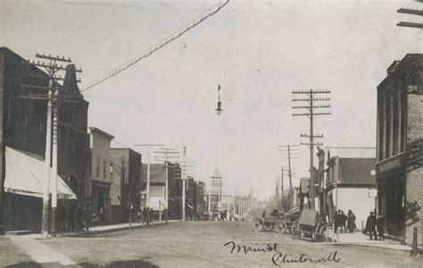 clintonville wisconsin main street  circa