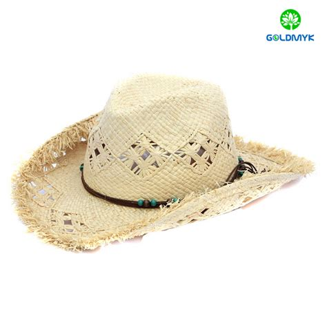 Handmade Cowboy Hats - handmade character raffia straw cowboy hats from china