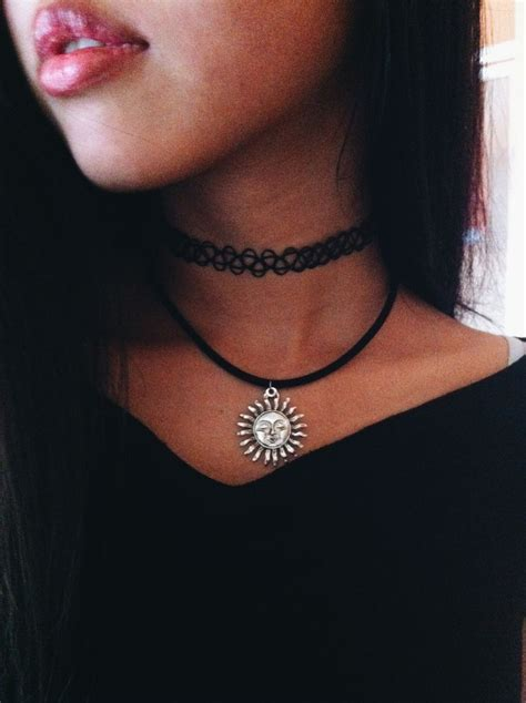 black tattoo choker chokers what do you think about them fashion tag