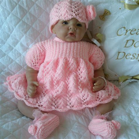 rico design knitting doll baby doll knitting pattern dress set for 20 quot 22 quot doll 0 3