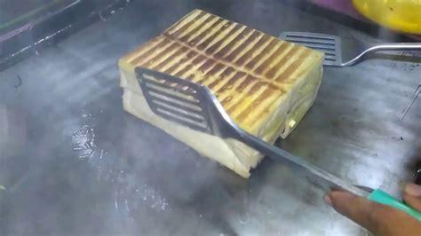 membuat roti bakar spesial indonesian street food