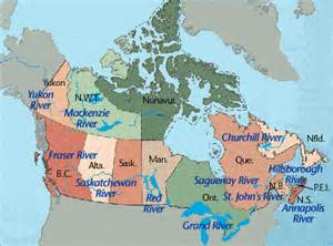 canada map of rivers canada political rivers map quotes