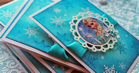 Handmade Frozen Invitations - made by rianna frozen the invitations