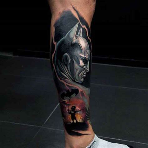 lower leg sleeve tattoo designs 101 batman joker designs for incl legs