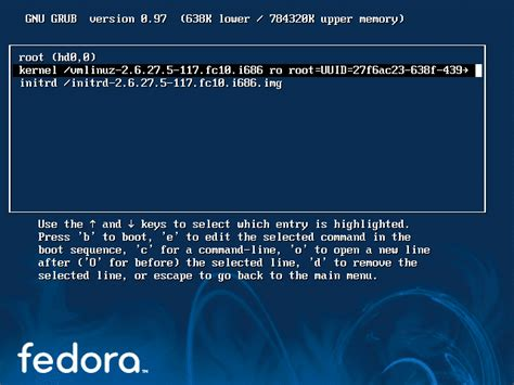 reset vista password from linux step by step to reset change root password on fedora 10
