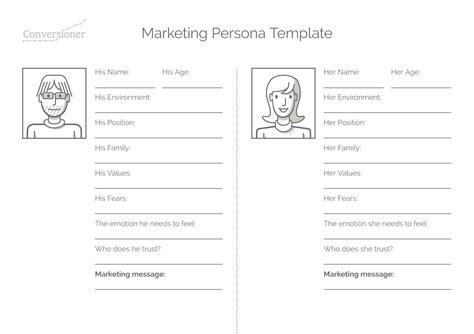 Step By Step Guide To Creating A Marketing Persona Marketing Persona Template