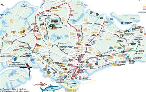singapore map tourist attractions map of singapore tourist travelquaz