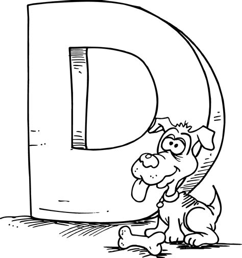 Alphabet D Coloring Pages by Letter D Coloring Pages Only Coloring Pages