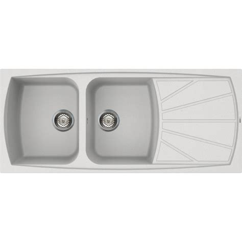 elleci kitchen sink living 500 2 bowls white made in italy