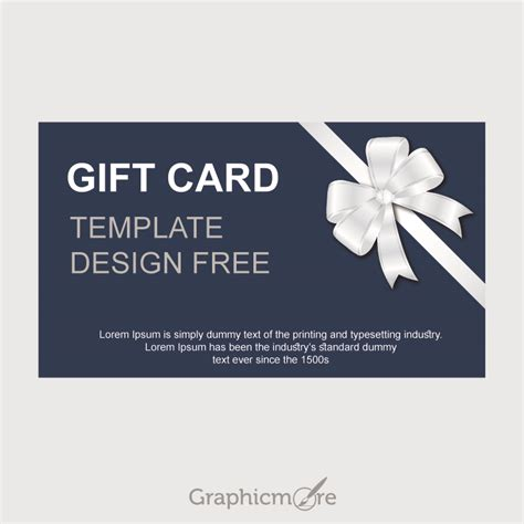 Gift Card Design Template - gift card template design free vector file download