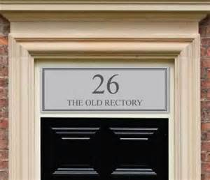 front door numbers etched glass style fanlight transom house numbers for