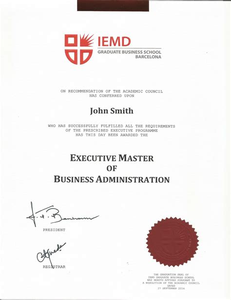 Executive Mba No Bachelor S Required by Executive Master In Business Administration Emba Mba