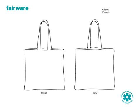 design template reusable tote bag fairware