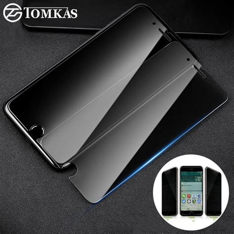 Tempered Glass Iphone 6 6s 7 8 9 10 11 Premium Fre Wrap מוצר tomkas anti tempered glass for iphone 5 5s se 6 6s 7 8 plus screen protector privacy