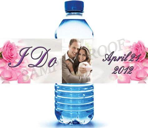 Wedding Favors Water Bottles by 25 Custom Water Bottle Labels For Wedding Favors By