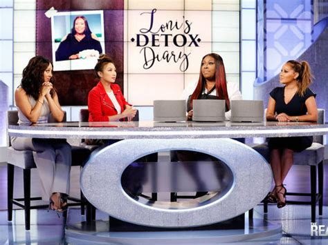 Lonis Detox Diary the real a daytime talk show with co hosts adrienne