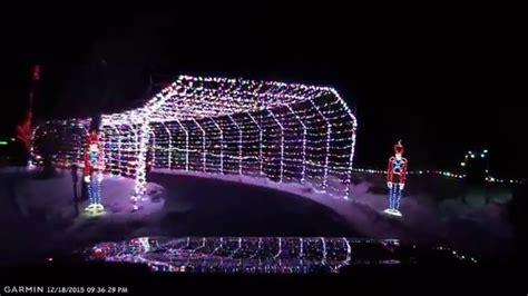 beautiful christmas lights at willard bay utah 2015