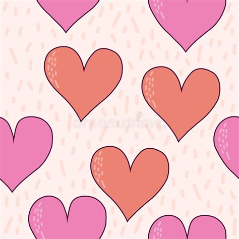 Handcrafted Hearts - handmade hearts seamless pattern background