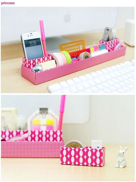 decorar escritorio manualidades manualidades de carton para decorar el escritorio diy
