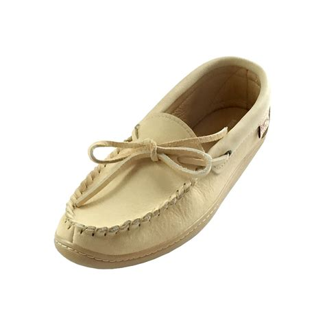 are moccasins slippers mens rubber sole genuine caribou leather moccasin shoes