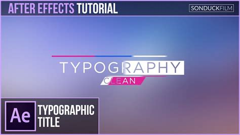 tutorial motion design after effects after effects tutorial clean typography title motion