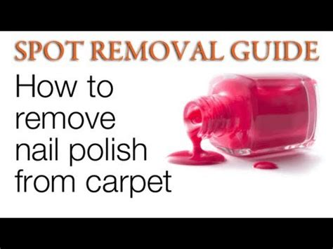 How To Get Nail A Rug by How To Get Nail Out Of Carpet Spot Removal Guide