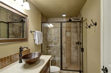Affordable Kitchen Ideas by Basement Bathroom Amp Shower Transitional Basement