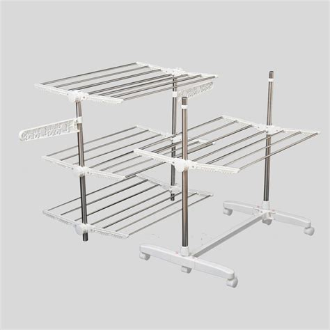 indoor clothes drying rack homcom 4 tier clothes drying rack indoor outdoor folding airer on onbuy