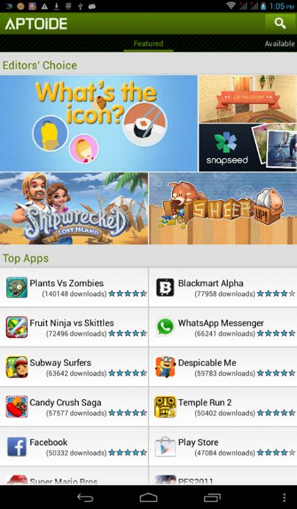 aptoide market apk july 2013 archives android zone